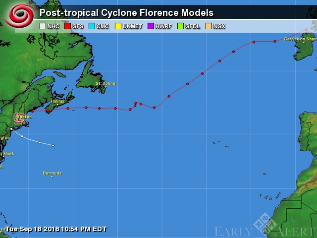 EarlyAlert Tropical Center: Post-tropical Cyclone Florence